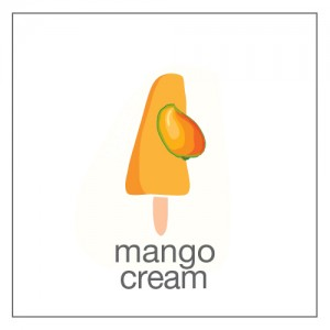 mangoes and cream