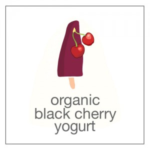 organic black cherries and yogurt