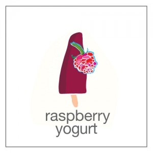 raspberries and yogurt